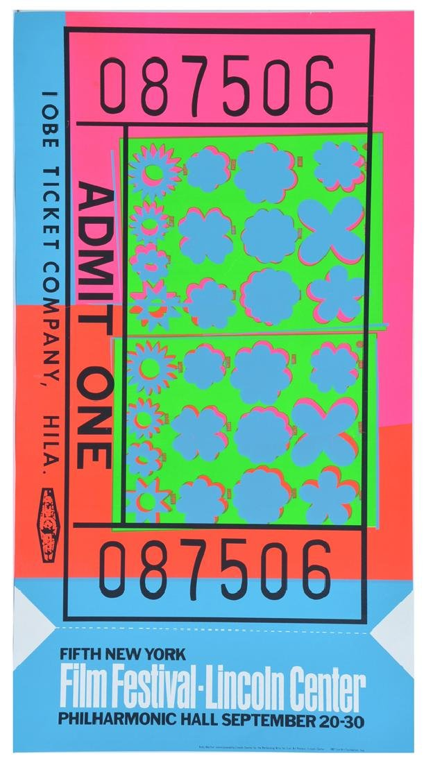 Andy Warhol, Admit One, Poster