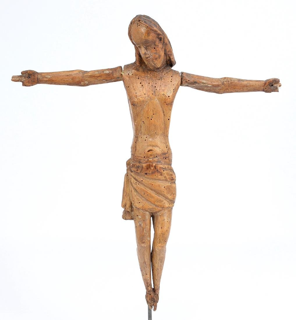 Carved wooden figure of Christ, 19th c or earlier