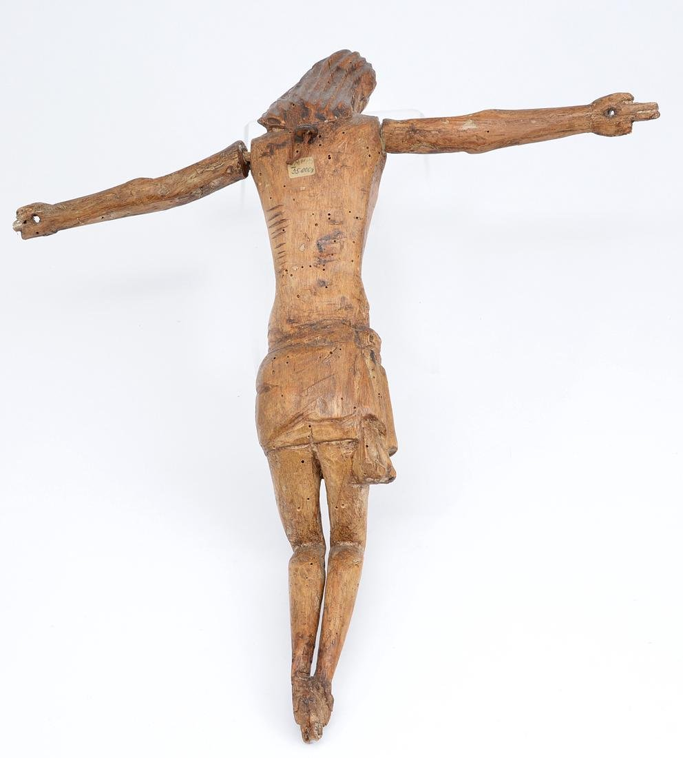 Carved wooden figure of Christ, 19th c or earlier - 2