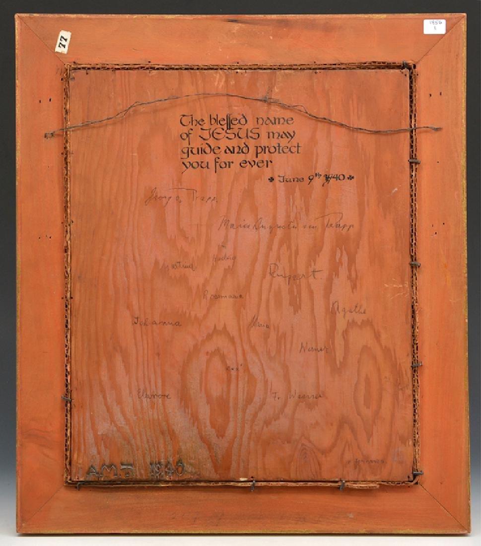 Von Trapp family signatures on ecclesiastical painting - 2