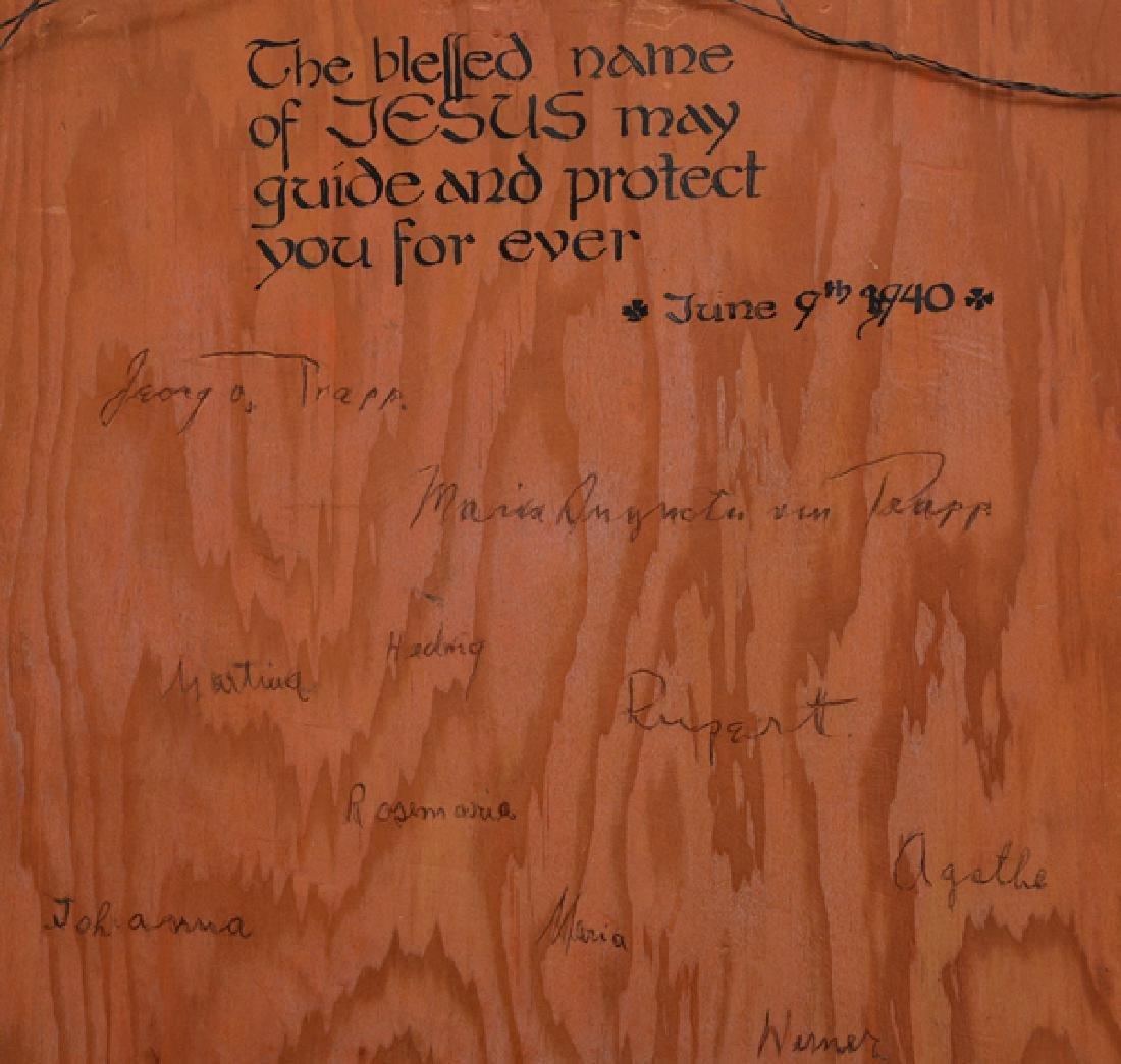 Von Trapp family signatures on ecclesiastical painting - 3