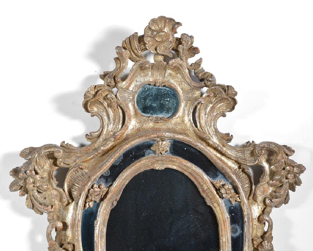 Pair of Northern Italian Rococo Giltwood Mirrors, 18th - 2
