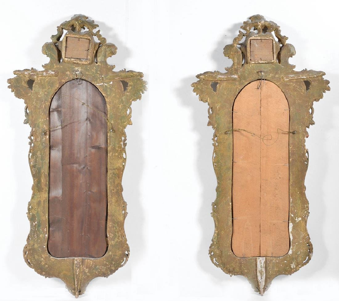 Pair of Northern Italian Rococo Giltwood Mirrors, 18th - 3