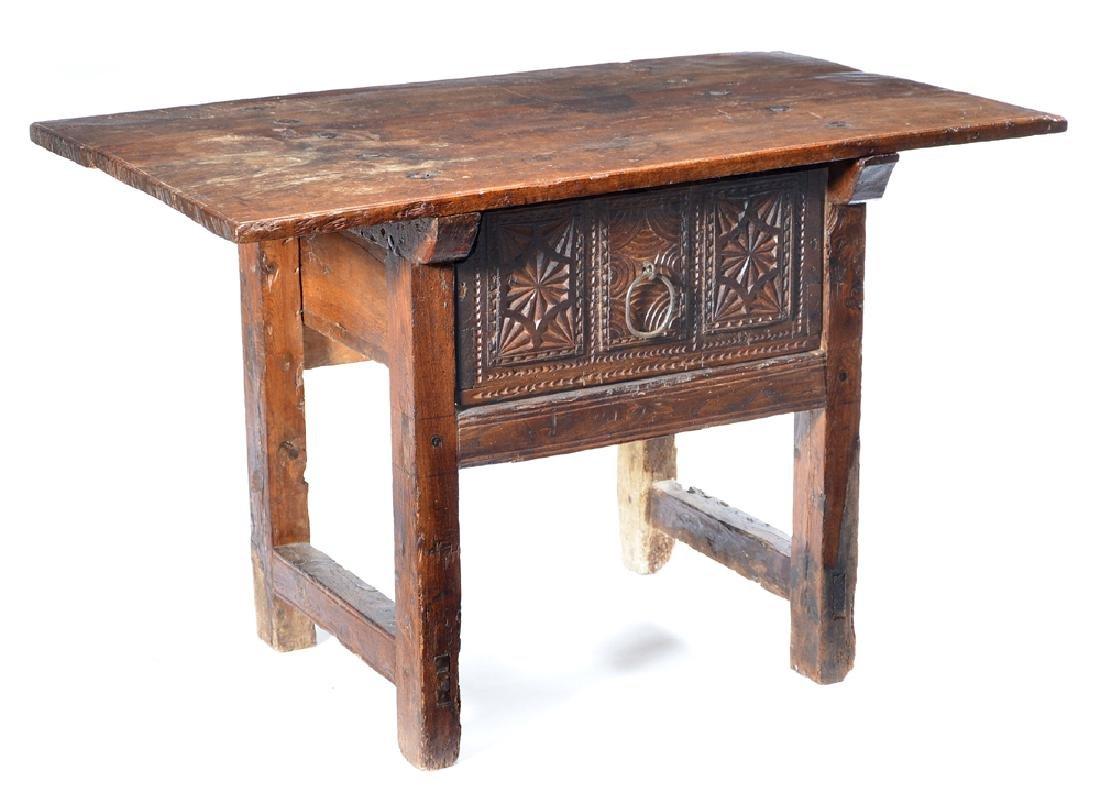 Spanish Colonial walnut side table,18th c