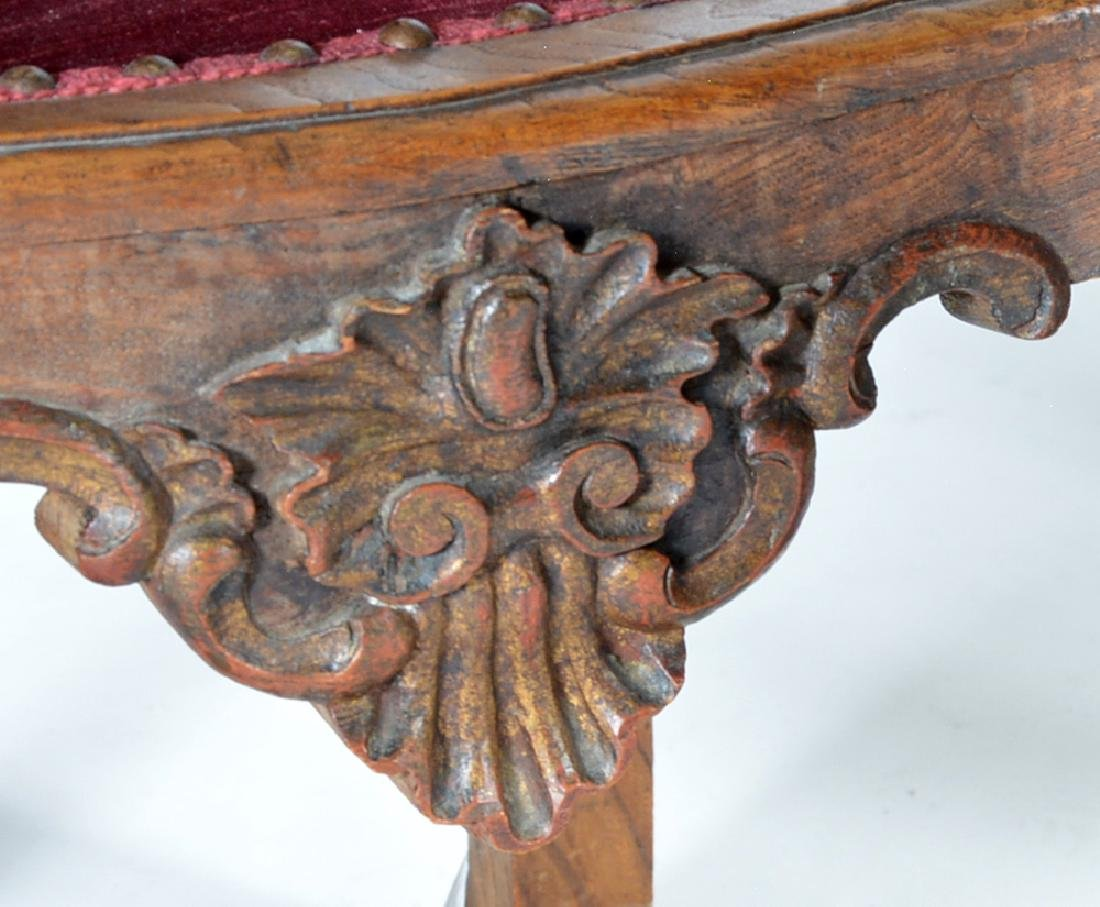 4 Continental oak dining chairs, 19th c - 3
