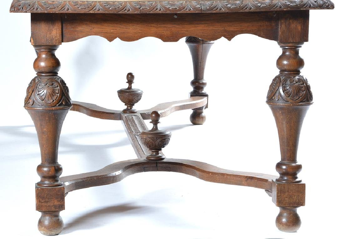Continental oak Louis XV style dining table, 19th c - 2