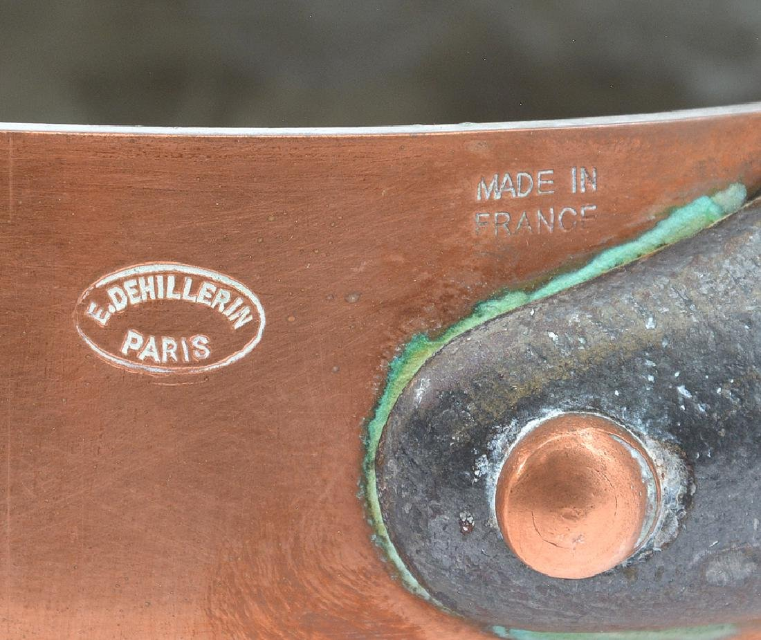 13 French Dehillerin copper pans - 2