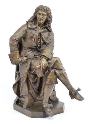 Desire Marie bronze sculpture of Moliere