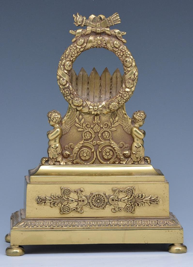French Empire Gilt Bronze Pocket Watch Holder, 19th c