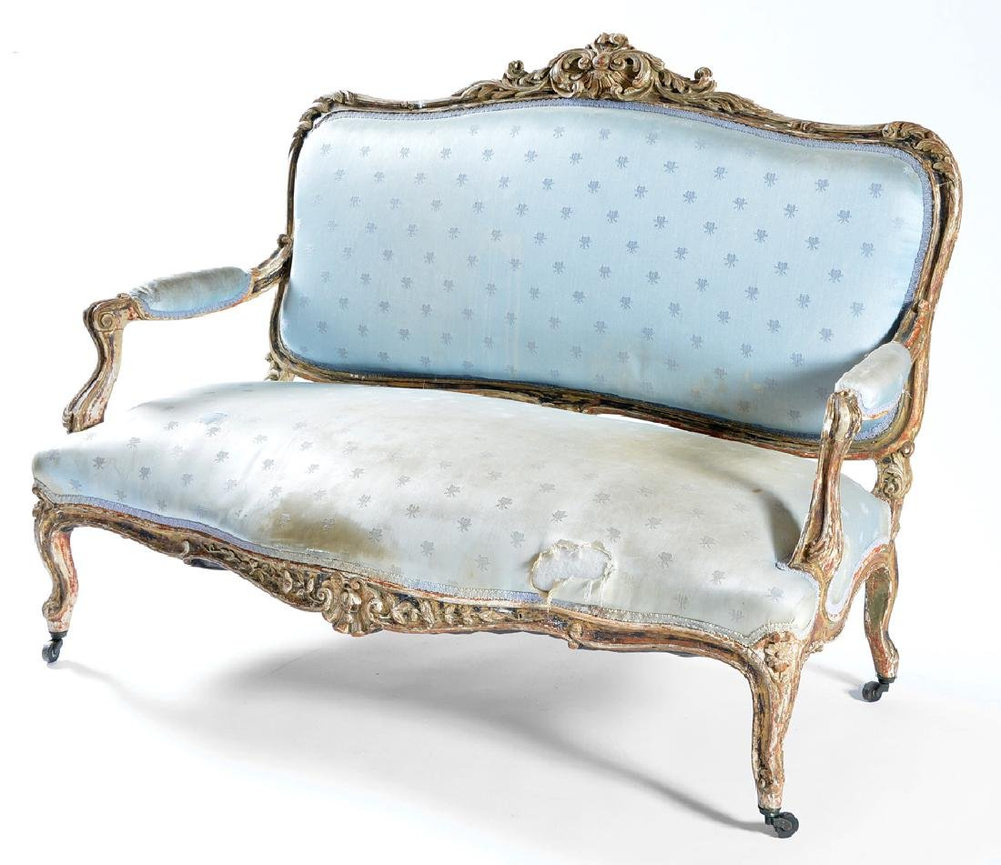 3 Pc suite of Louis XV style furniture, 18th/19th c - 3