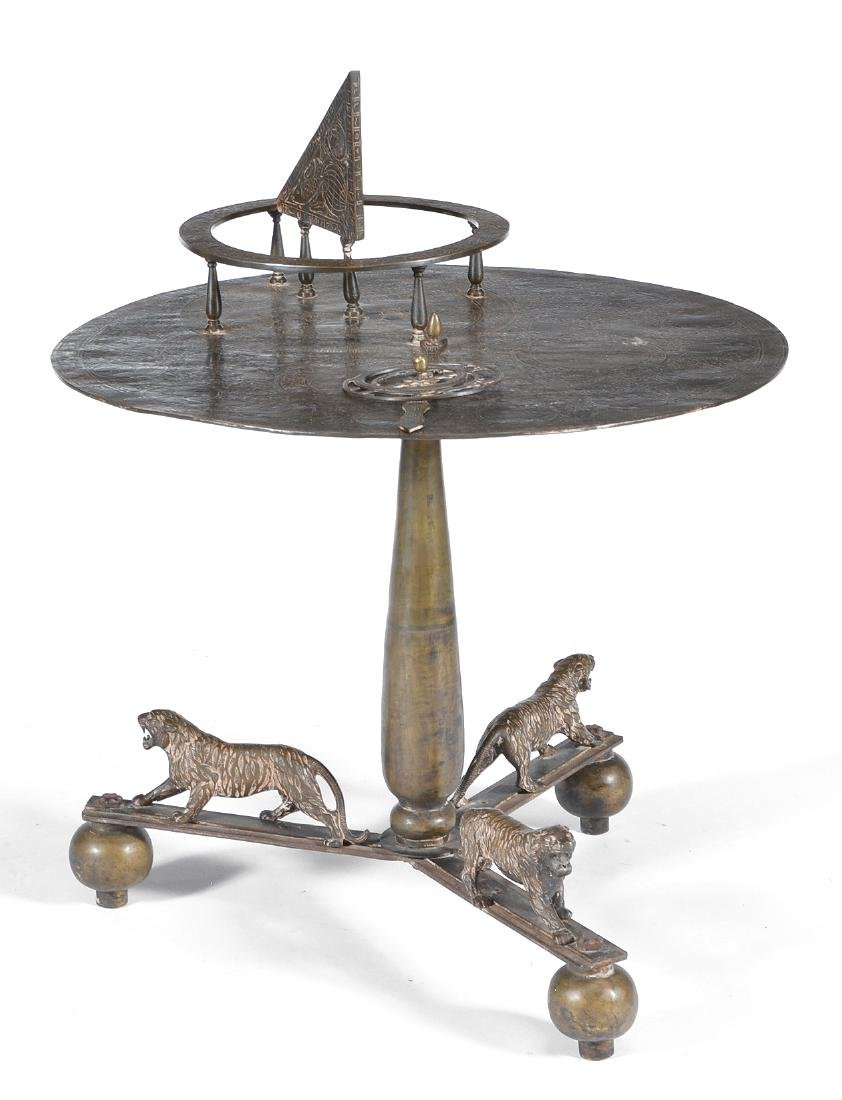 Persian brass astrolabe table