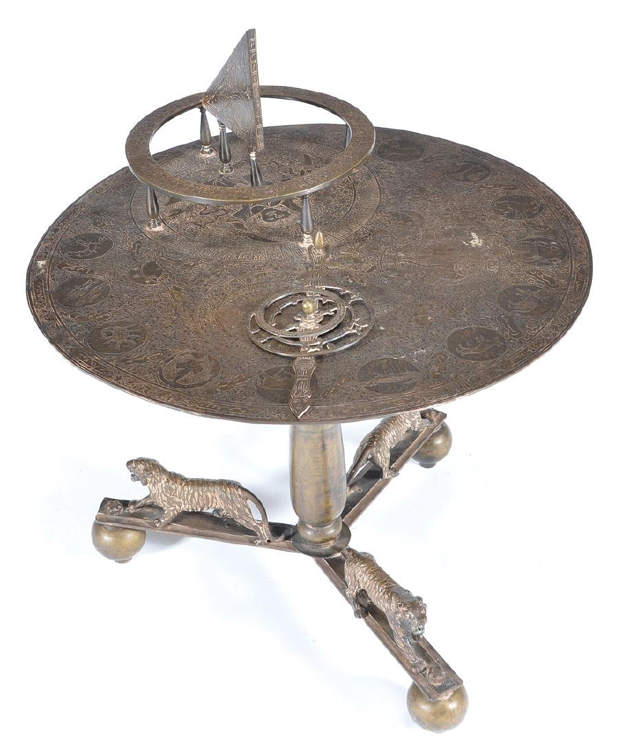 Persian brass astrolabe table - 2