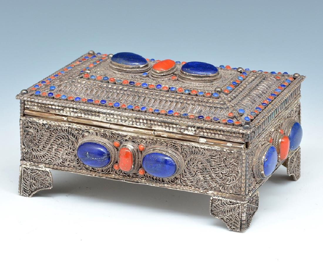Near eastern silver jewelry box - 2