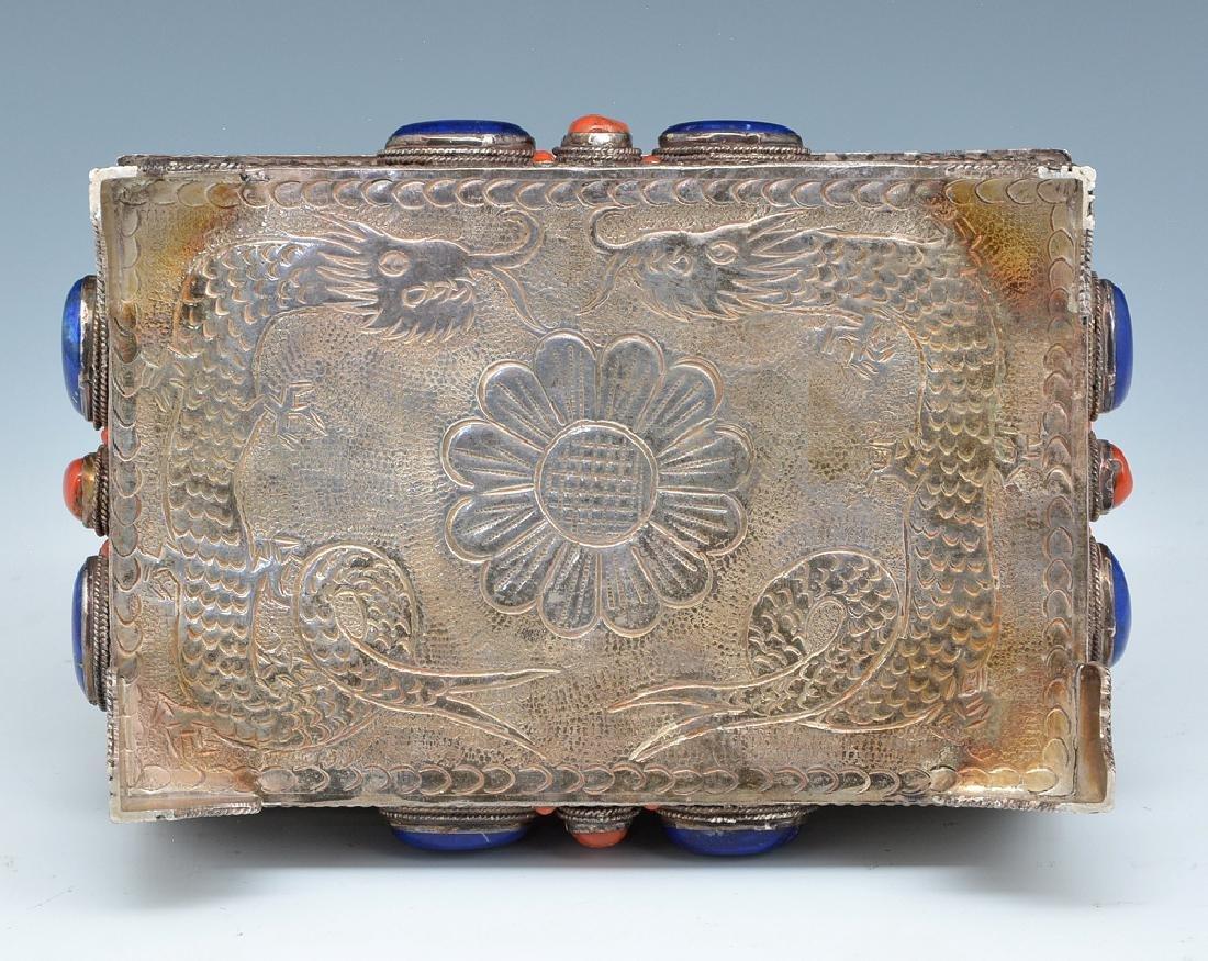 Near eastern silver jewelry box - 3