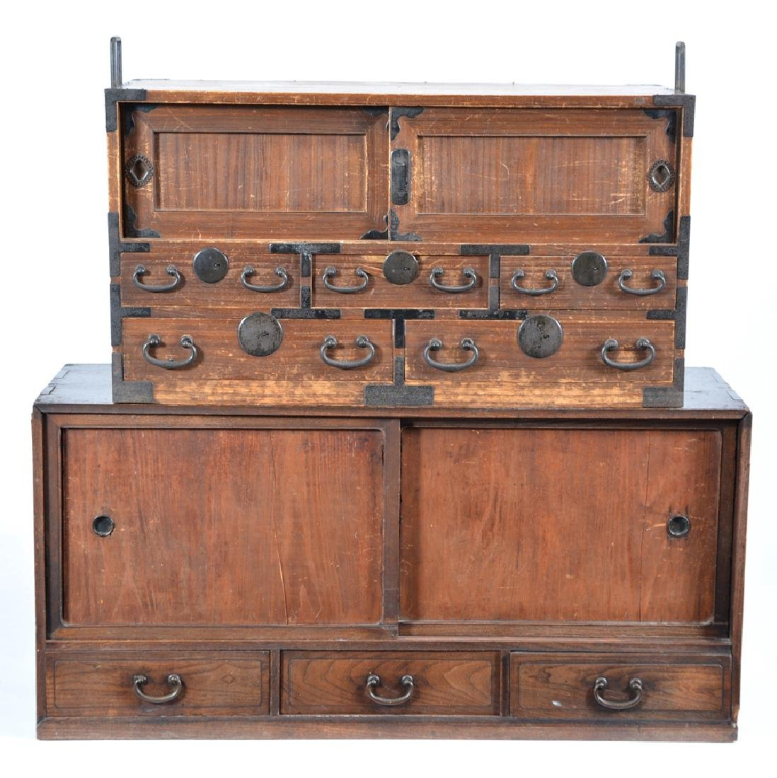 2 Japanese tansu chests