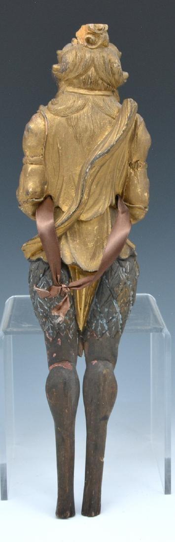 Gilt metal and wood figure of a demon (oni) - 3