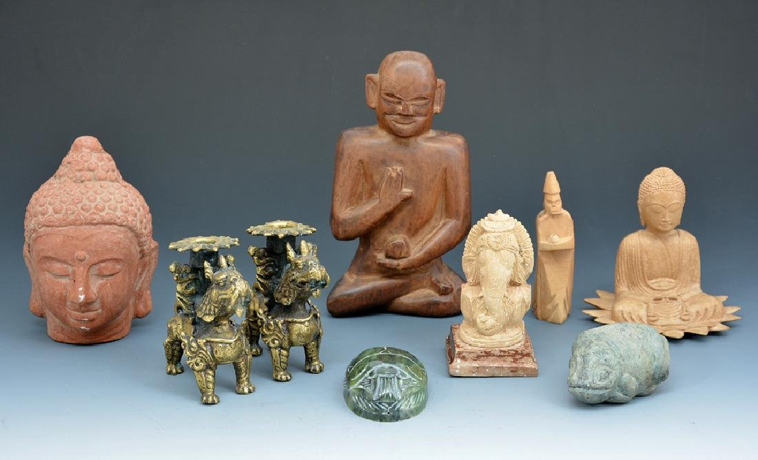 Group of Indian decorative objects