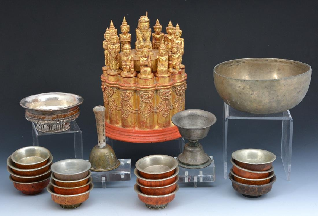 Group of Tibetan decorative objects