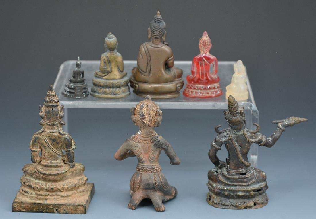 Group of 8 Asian carvings, Buddhist - 2
