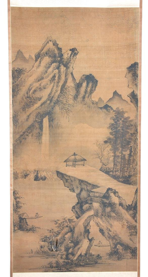 Chinese scroll painting, landscape