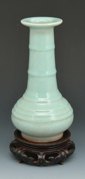 Chinese Bamboo Neck Bottle Vase