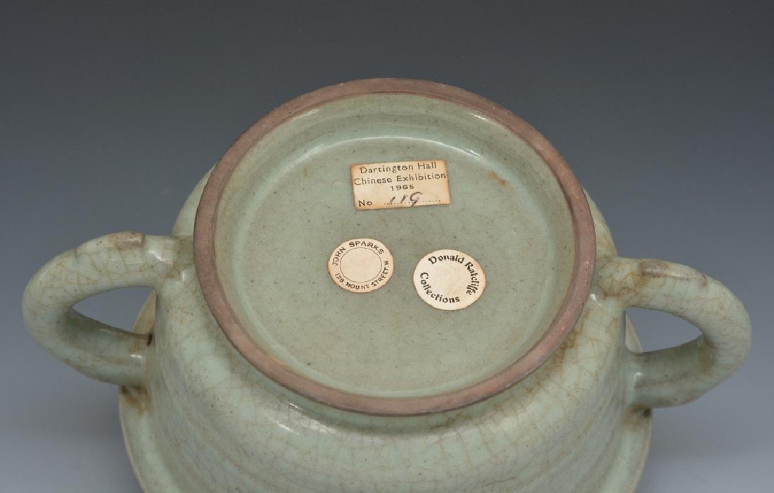 Chinese Kuan-Type Handled Censer - 6