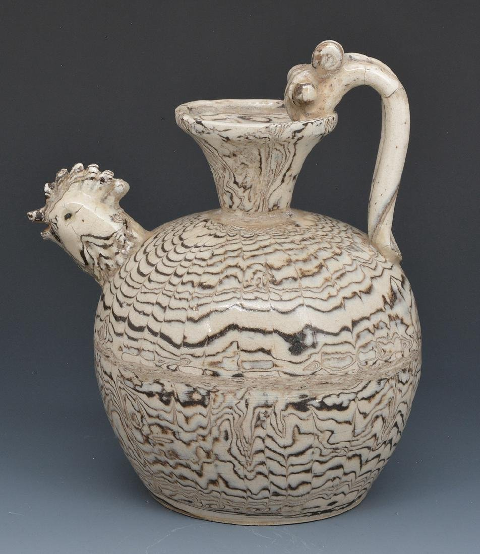 Chinese Marble Glaze Chicken-Head Ewer