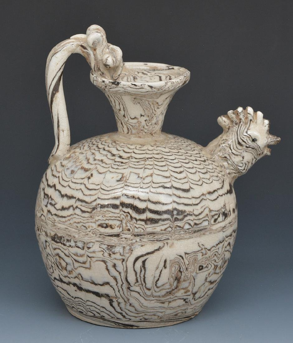 Chinese Marble Glaze Chicken-Head Ewer - 2