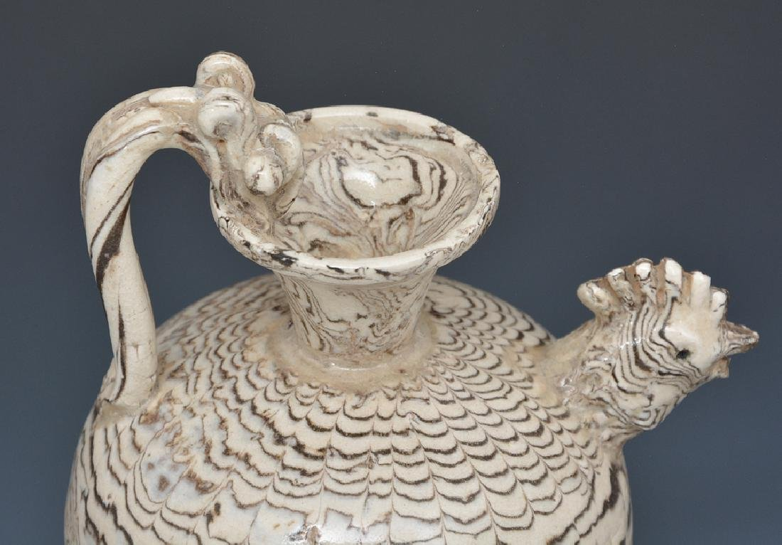 Chinese Marble Glaze Chicken-Head Ewer - 3