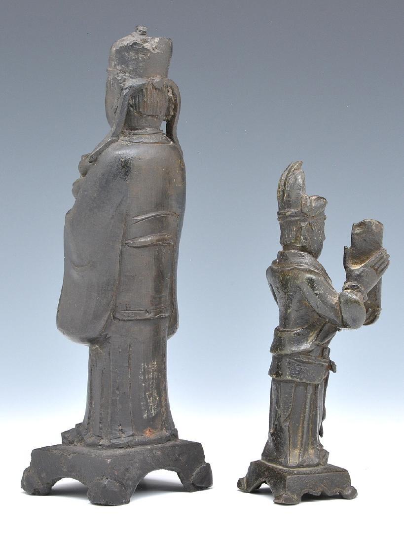 2 Bronze Asian immortals statues - 2