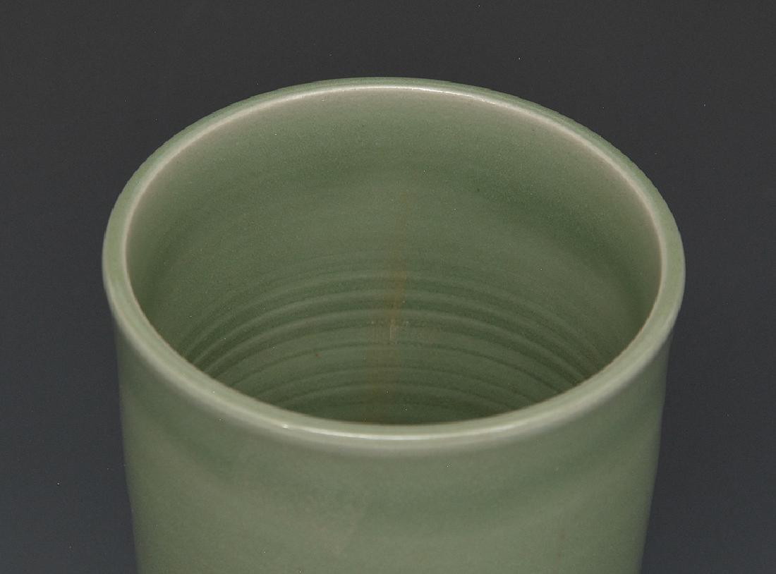 Chinese Celadon Beaker Vase - 2