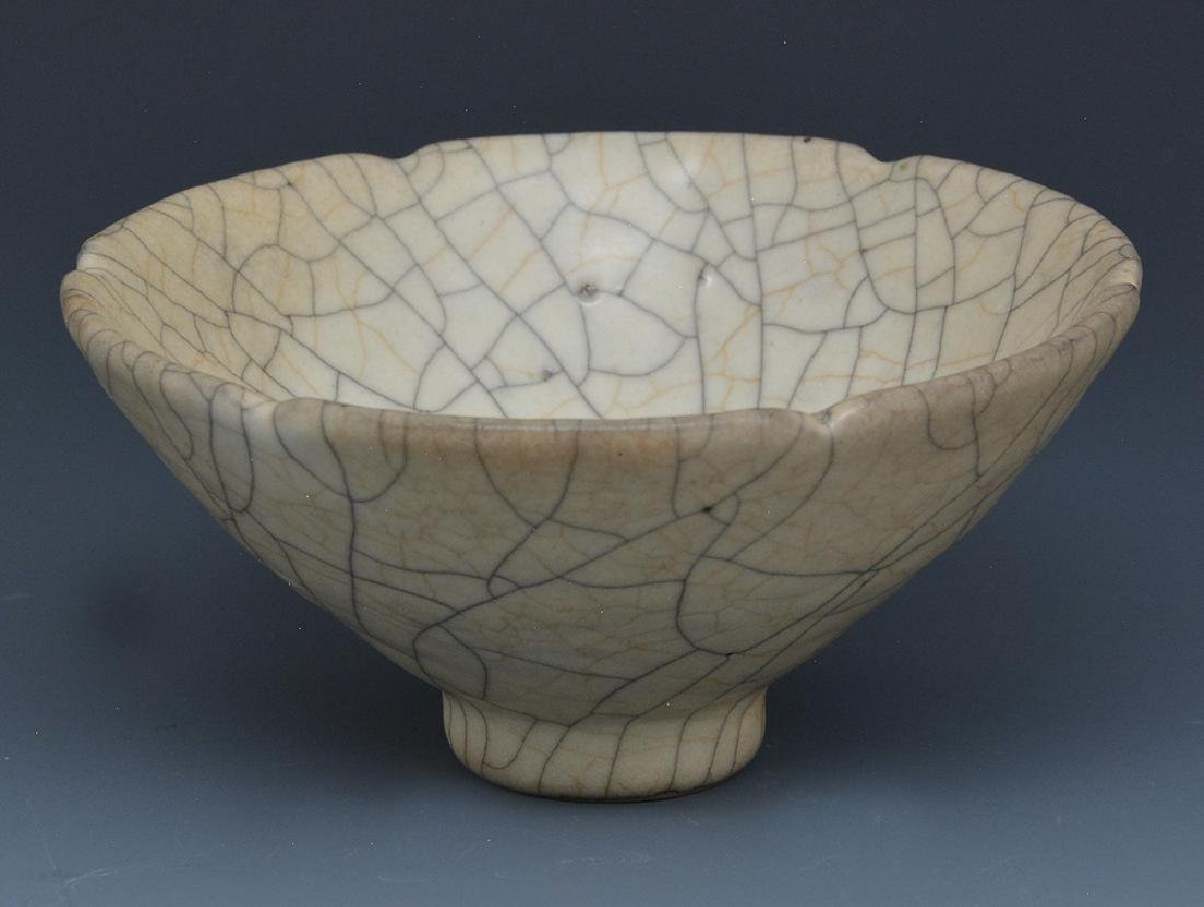Chinese Crackle Glazed Conical Bowl