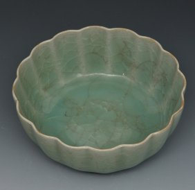Chinese Lungchuan Foliate Bowl