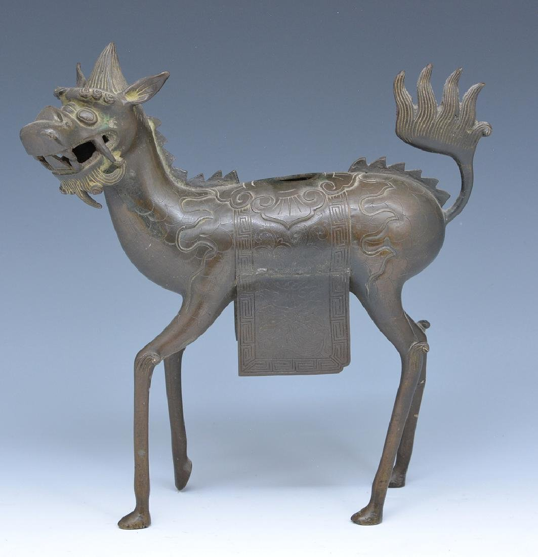 Bronze Qilin (Kirin) censer