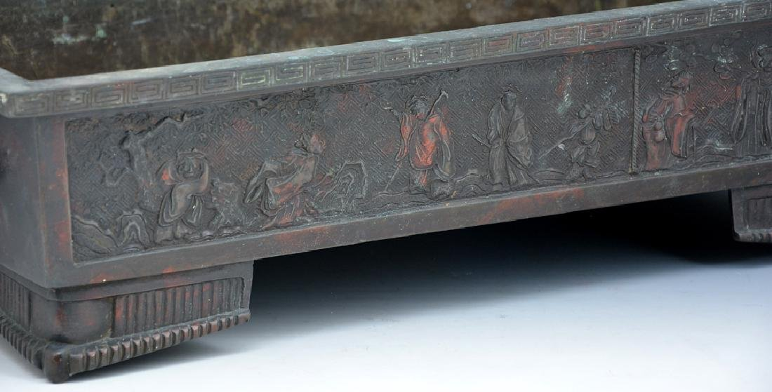Asian bronze footed planter - 3