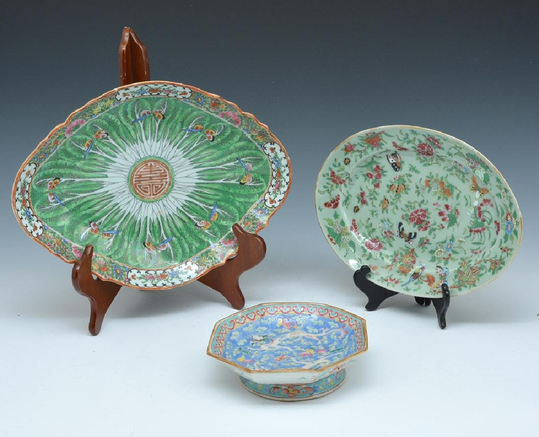 3 pcs Colorful Chinese platters