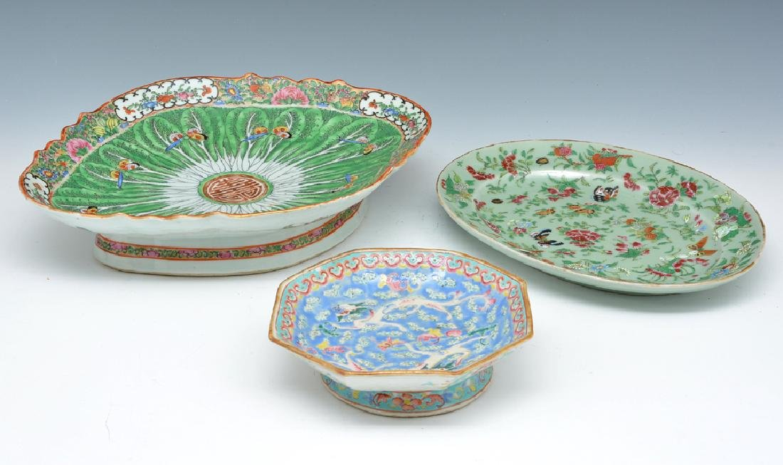 3 pcs Colorful Chinese platters - 2