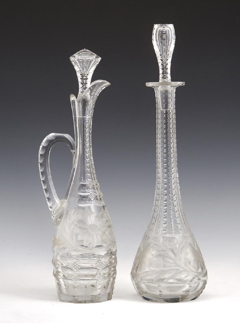 2 Cut crystal decanters