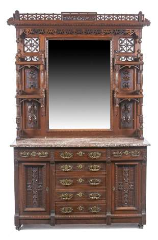 American Victorian Aesthetic Period Walnut Sideboard
