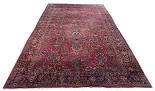 """Roomsize Sarouk Carpet, 16' 9"""" x 9'"""
