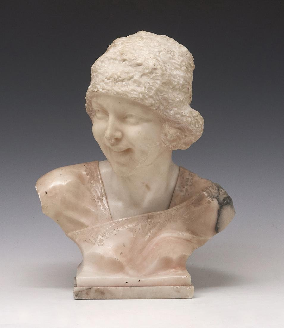 E. Castellucci, marble and alabaster sculpture of a
