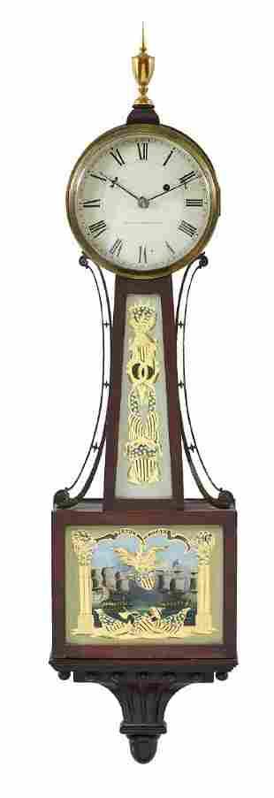 "Bigelow & Kennard American banjo clock, 42""t"