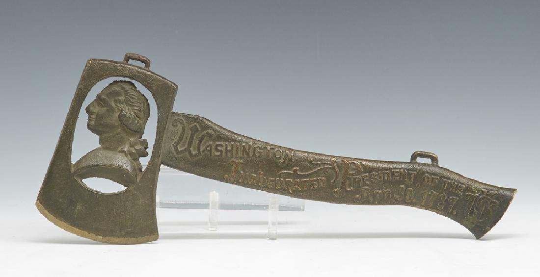 George Washington commemorative bronze hatchet