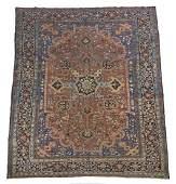 """Antique Persian carpet. Appx 11' x 7'6"""""""