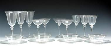 14 Pieces Steuben crystal stemwareglassware