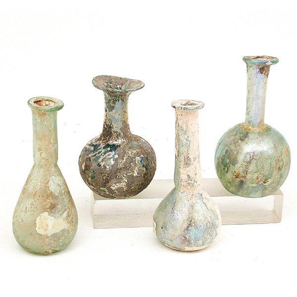 3: 4 Roman Glass Objects