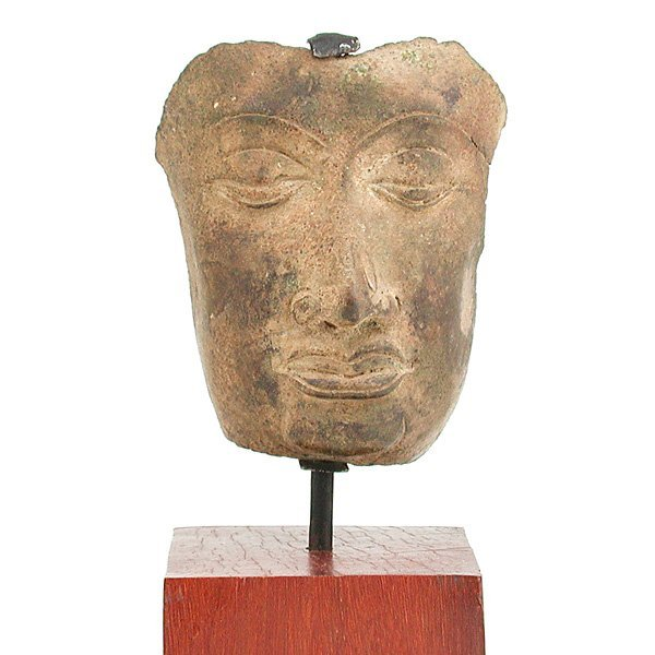 7: Southeast Asian Bronze Partial Buddha Head