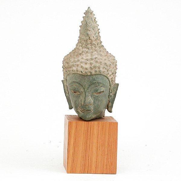 8: Southeast Asian Bronze Buddha Head