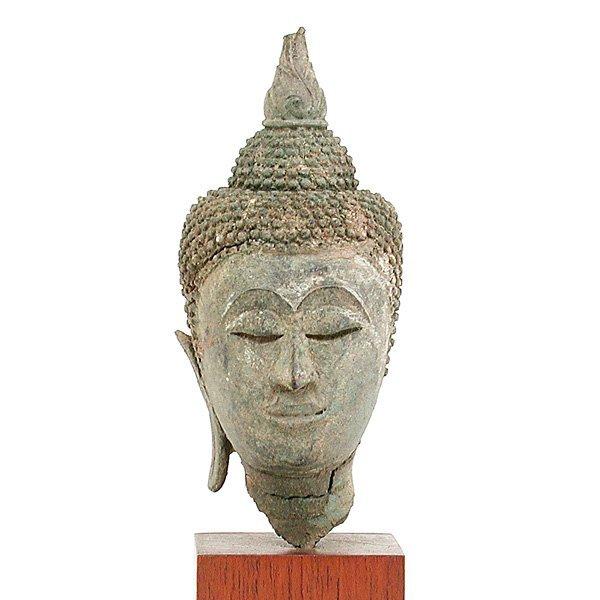 9: Southeast Asian Bronze Buddha Head