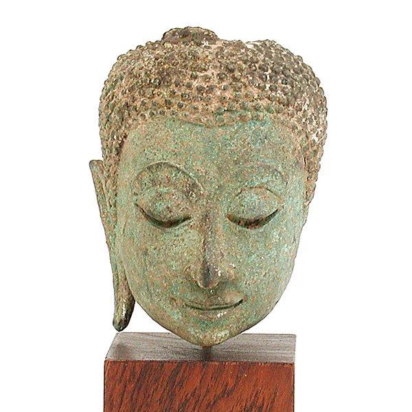 10: Southeast Asian Bronze Buddha Head